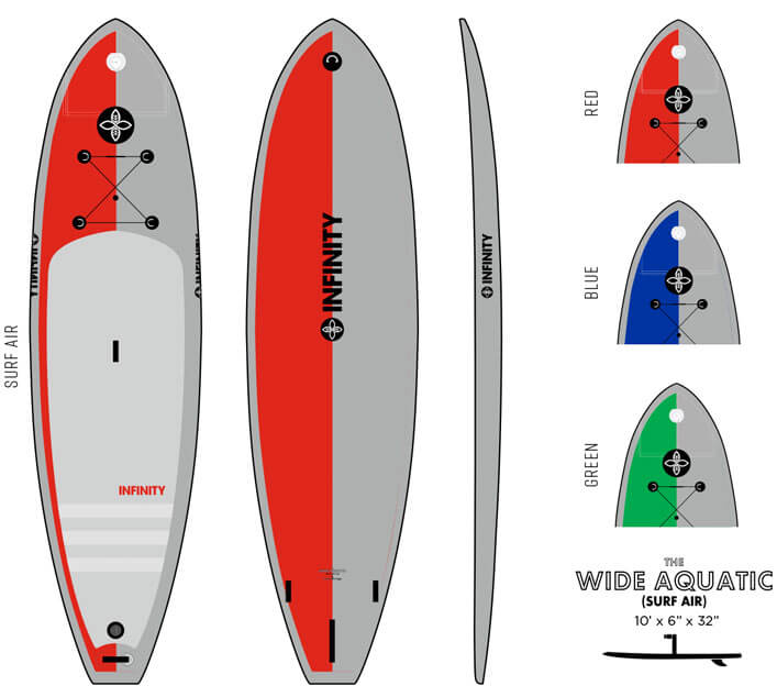 iSUP Inflatable Paddlebaords Infinity SUP Boards