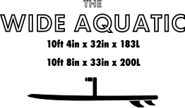 Wide Aquatic SUP Board Size Chart