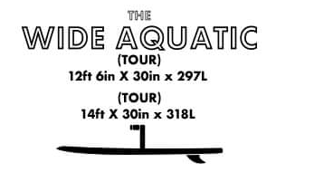 Wide Aquatic Tour SUP Board - Infinity Custom Boards